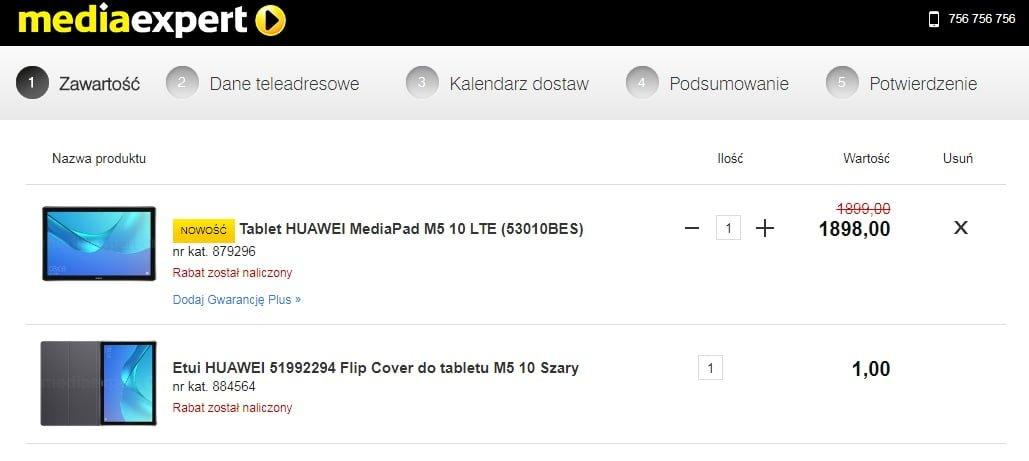 Tabletowo.pl Kompleksowa promocja: przy zakupie tabletu Huawei MediaPad M5 dostaniesz w prezencie etui Android Huawei Promocje Tablety