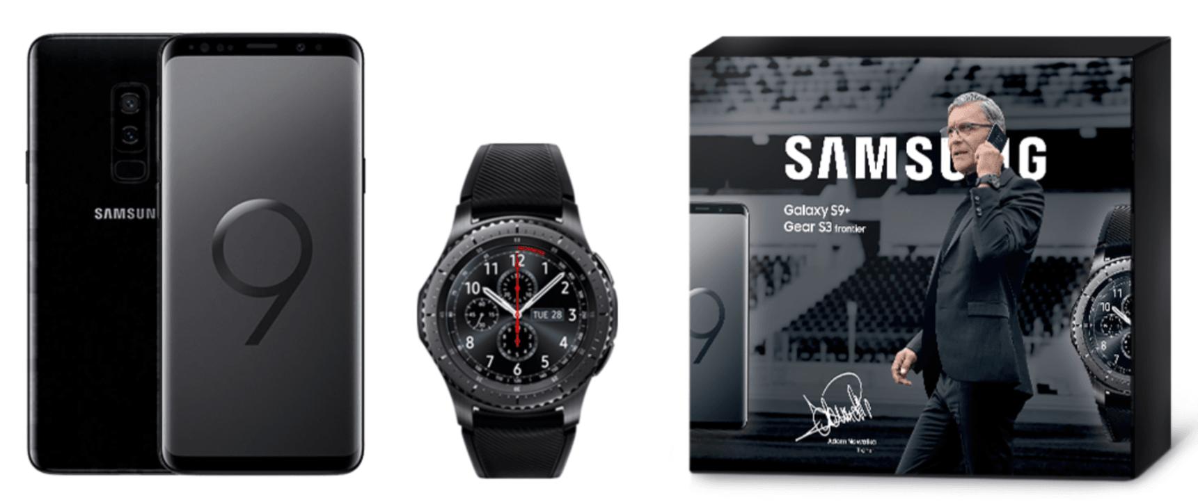 Tabletowo.pl W zestawie taniej niż osobno: Samsung Galaxy S9+ ze smartwatchem Gear S3 Frontier Promocje Samsung Smartfony Wearable