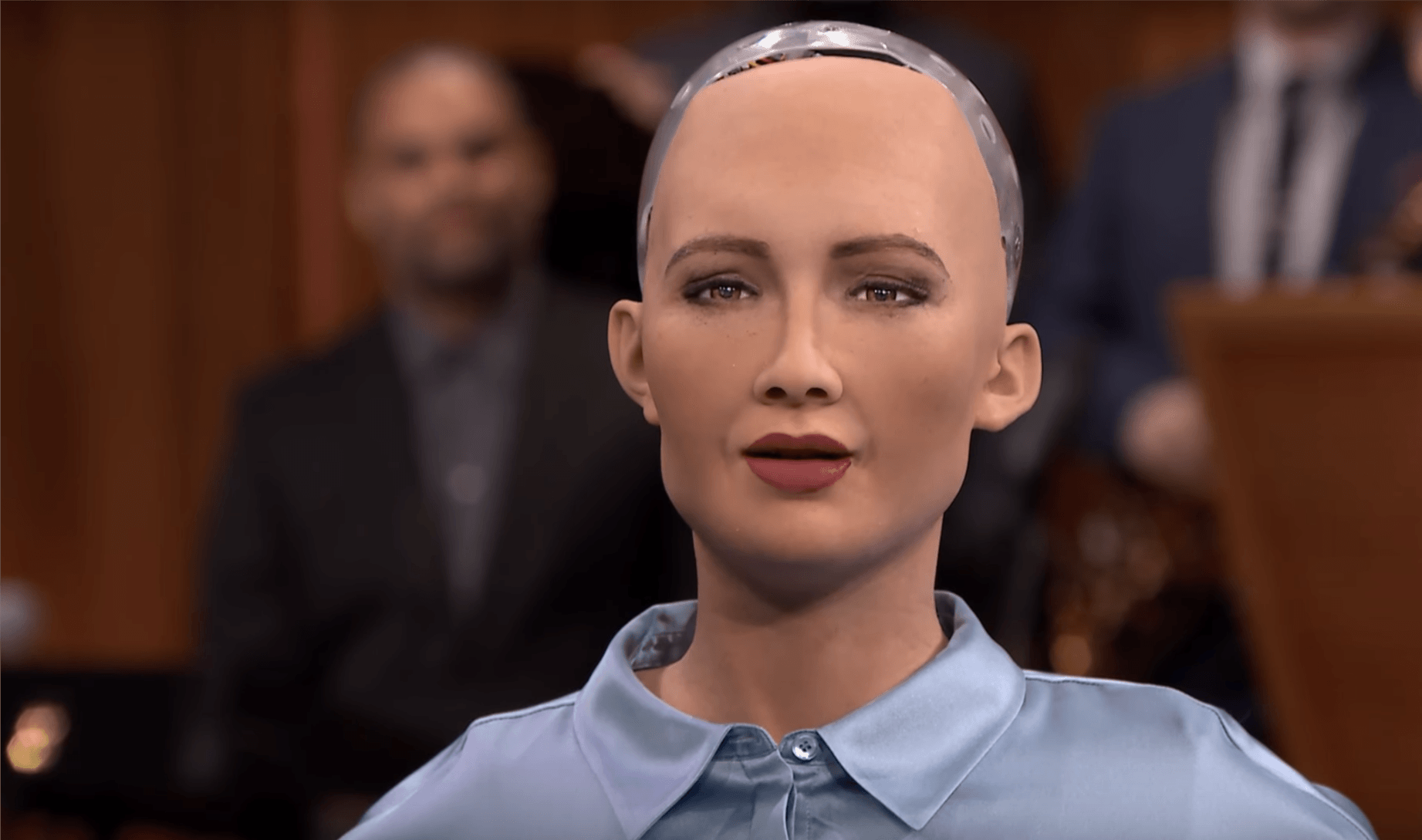 Tabletowo.pl Android Sophia na konferencji w Krakowie. Robot wygląda jak człowiek i stara się zachowywać jak my Ciekawostki Sztuczna Inteligencja Technologie