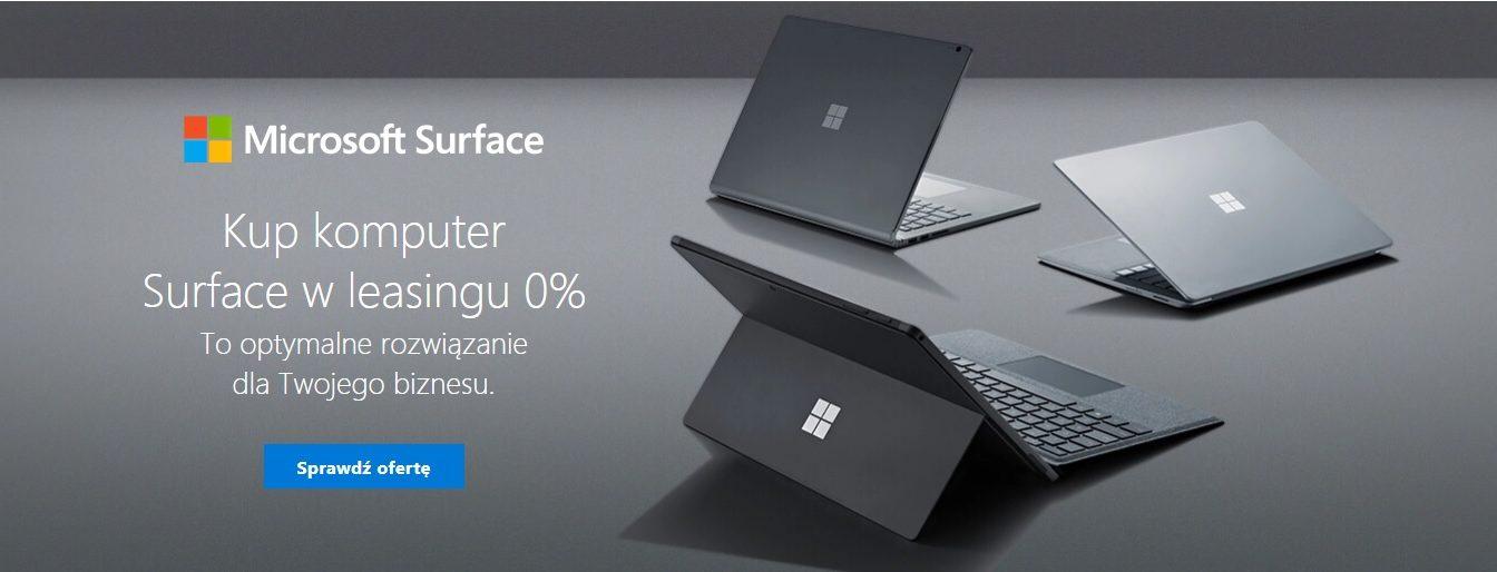 Tabletowo.pl Komputery Microsoft Surface w leasingu dla przedsiębiorców już od 137,64 zł netto miesięcznie Hybrydy Microsoft Nowości Tablety Windows