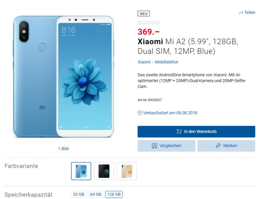 Tabletowo.pl Xiaomi Mi 8 wkrótce trafi do Francji i Rosji, zaś Mi A2 pojawił się na stronie szwajcarskiego sklepu - wraz z cenami Plotki / Przecieki Smartfony Xiaomi