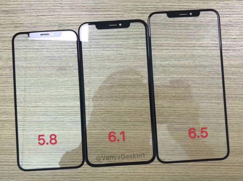 Tabletowo.pl Jak wygląda front nowych iPhone'ów? Cóż - szkło i wycięcia w ekranie. Ramki w wersji 6.1 cala nie należą do najcieńszych Apple Plotki / Przecieki Smartfony