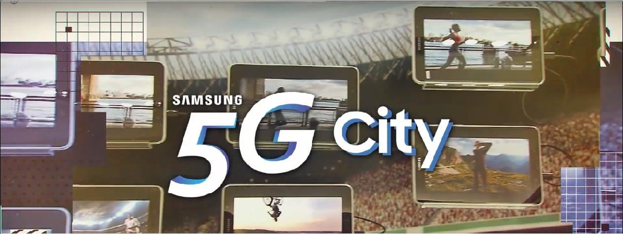 """Tabletowo.pl Postęp jest nieunikniony i 5G w przyszłości zastąpi 4G. Samsung jest tego świadomy i prezentuje wizję """"Miasta 5G"""" Ciekawostki Producenci Qualcomm Samsung Technologie"""