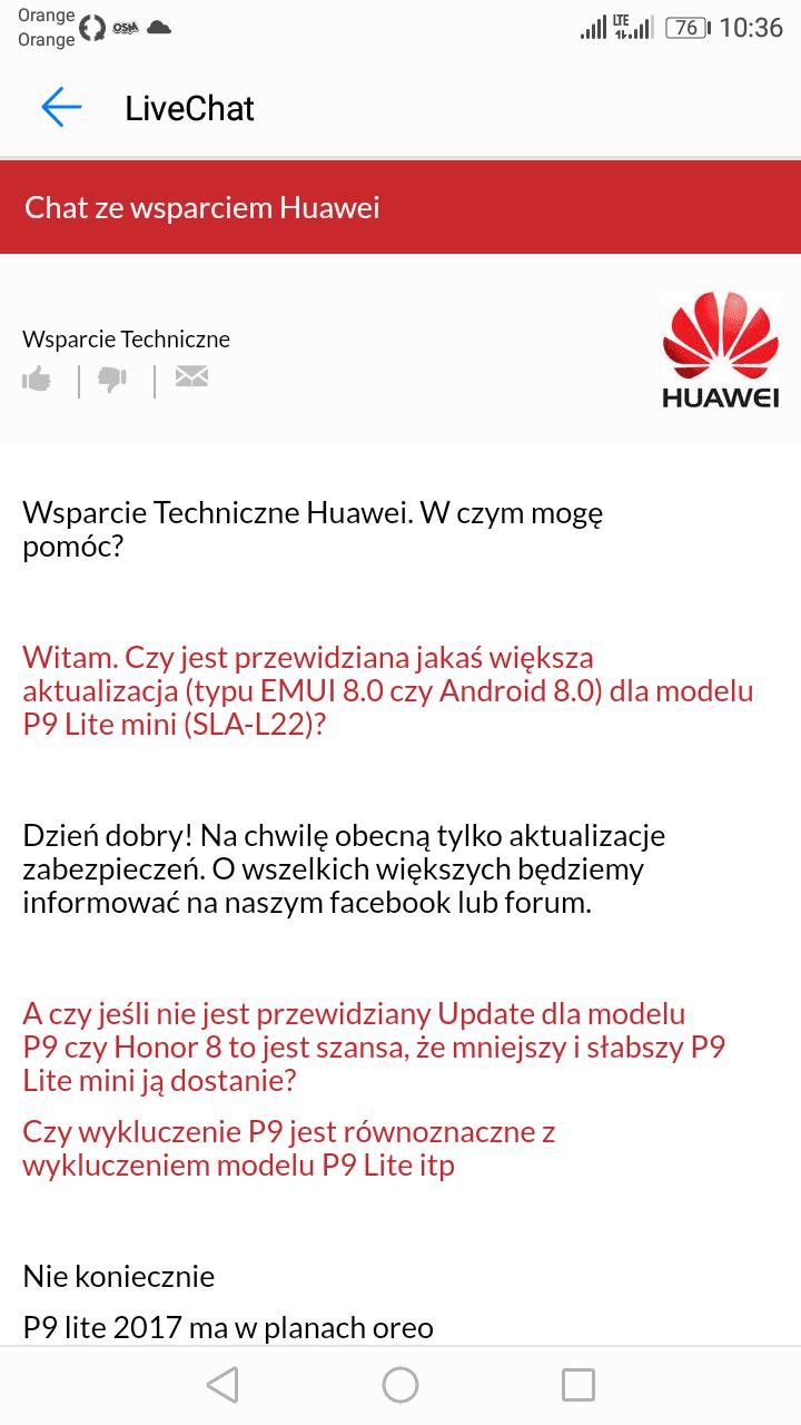 Tabletowo.pl Ups: pracownik Huawei zdradził nazwę nowego Androida P! Aktualizacje Android Huawei Smartfony