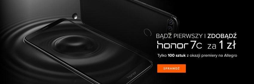 To nie żart - jutro kupisz smartfona za 1 zł! Honor 7C w oficjalnym sklepie na Allegro w niebywałej promocji! 23