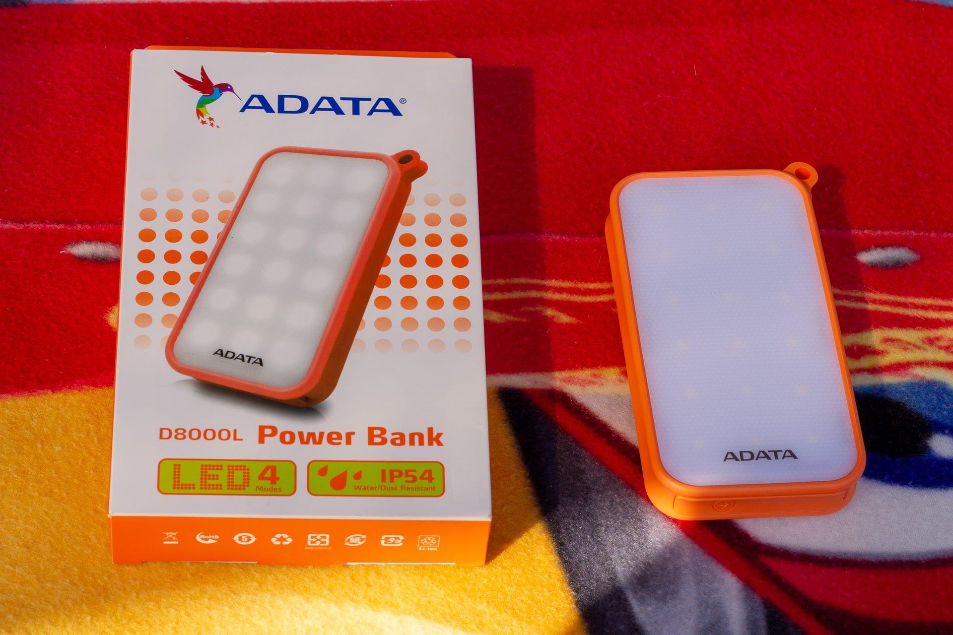 Tabletowo.pl Powerbank to czy lampka LED? Recenzja ADATA D8000L Akcesoria Recenzje