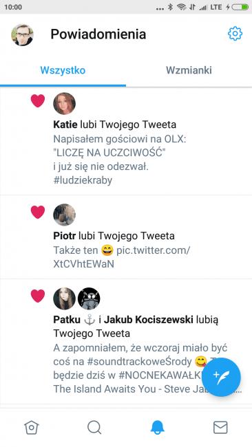 Tabletowo.pl Twitter na Androida od dziś nieco wygodniejszy w obsłudze - pasek z kartami wędruje na dół ekranu Aktualizacje Aplikacje Nowości