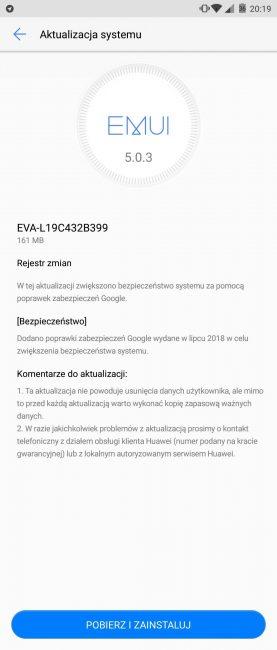 Huawei nie zawodzi - Huawei P9 otrzymuje kolejną aktualizację z najnowszymi poprawkami zabezpieczeń 17