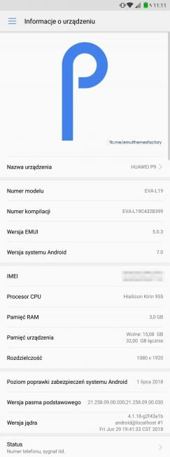 Huawei nie zawodzi - Huawei P9 otrzymuje kolejną aktualizację z najnowszymi poprawkami zabezpieczeń 18