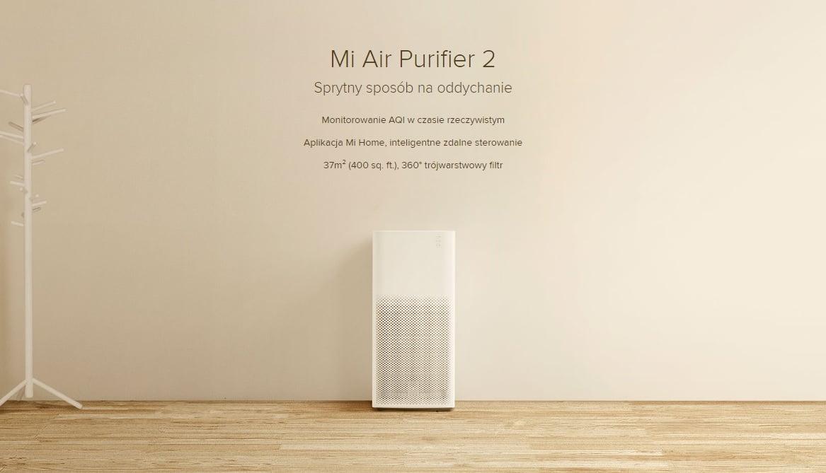 Narzekasz na jakość powietrza? W poniedziałek kupisz oczyszczacz Mi Air Purifier 2 dwieście złotych taniej! 24