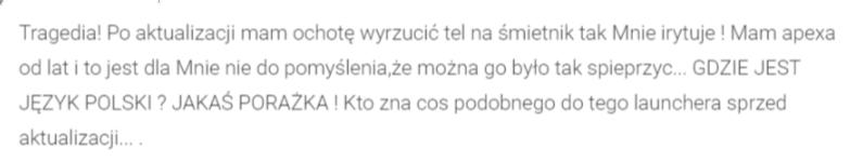 Tabletowo.pl Użytkownicy Apex Launchera czekali na tę aktualizację niemal rok. Nie instalujcie jej, jest beznadziejna! Aktualizacje Android Aplikacje