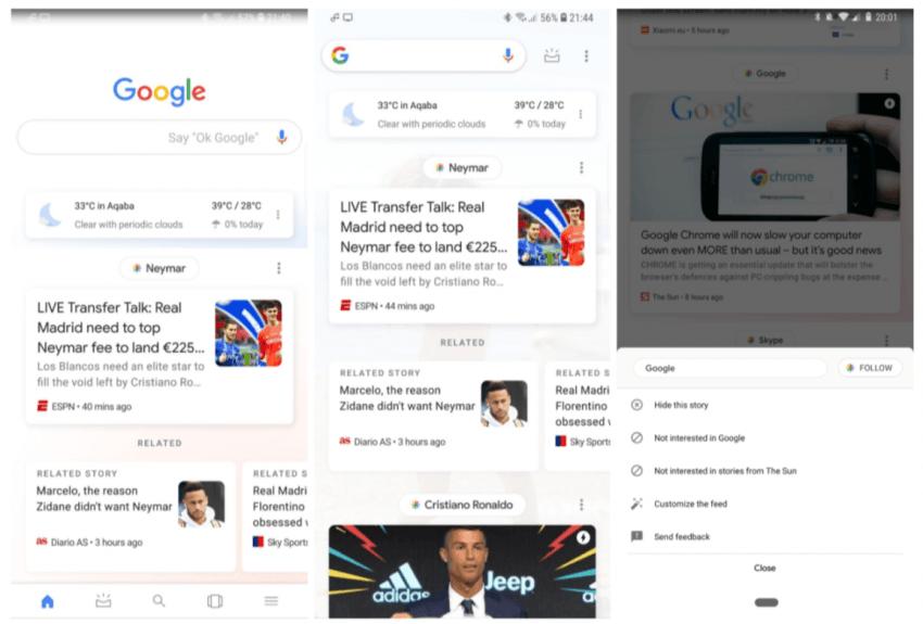 Wielu miało nadzieję, że nie będzie zmian w wyglądzie Google Feed, ale coraz więcej osób dostaje tę aktualizację 24