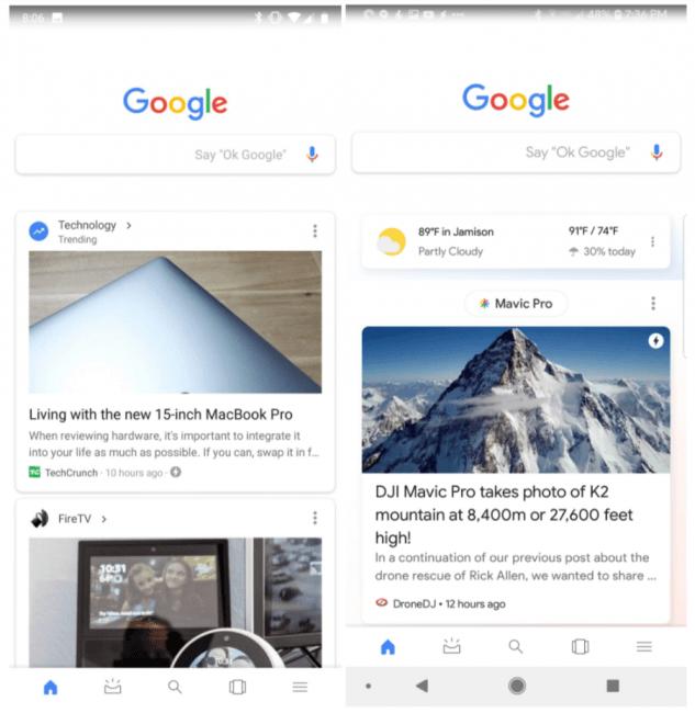 Wielu miało nadzieję, że nie będzie zmian w wyglądzie Google Feed, ale coraz więcej osób dostaje tę aktualizację 22