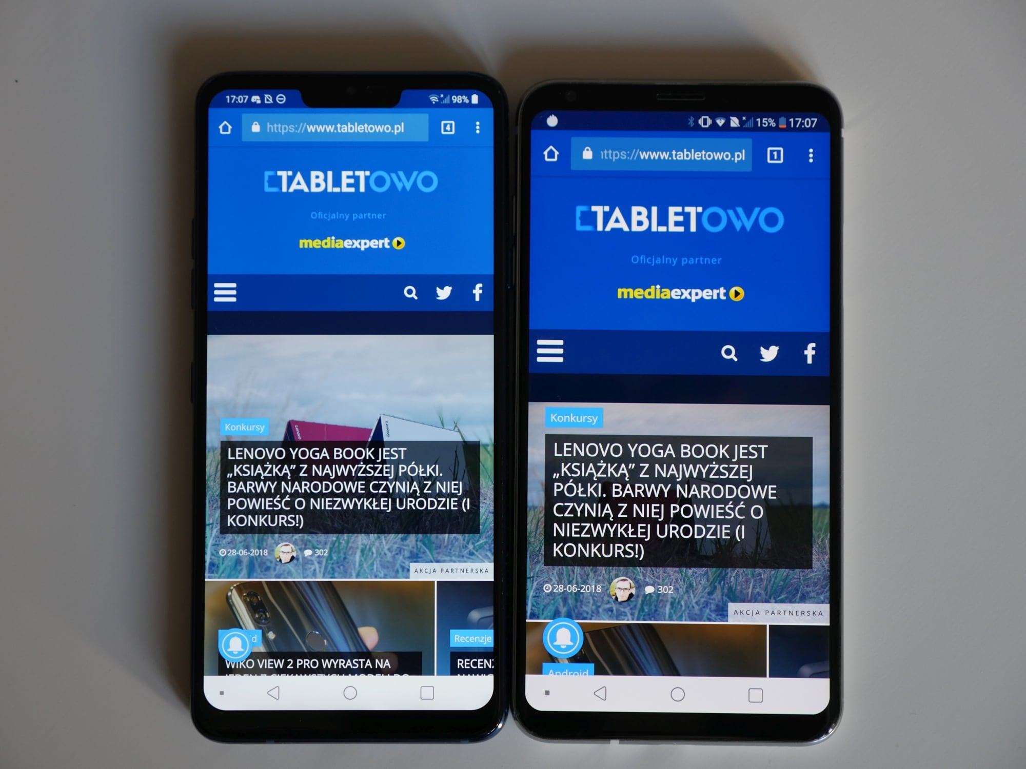 Tabletowo.pl Dwa najlepsze smartfony LG w jednym miejscu, czyli porównanie G7 ThinQ i V30 Android LG Nowości Porównania Smartfony