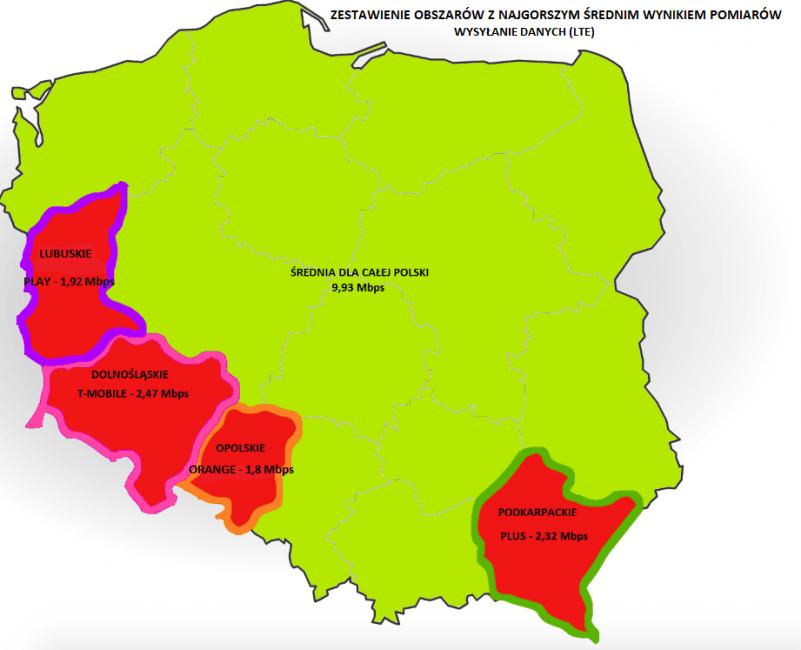 Tabletowo.pl Gdzie w Polsce jest najgorszy internet mobilny? Sprawdź, czy nie mieszkasz w zapomnianym przez operatorów województwie Ciekawostki GSM Raporty/Statystyki