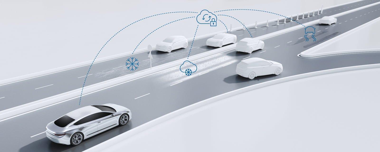 Prognoza pogody na czterech kołach. Bosch chce usprawnić swoje autonomiczne samochody 23