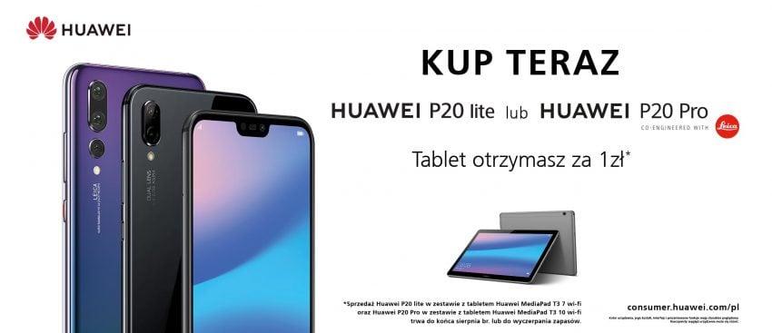 """Tabletowo.pl Promocja """"back to school"""": Kupując smartfon Huawei P20 Pro lub P20 Lite dla siebie, dostaniesz tablet za 1 zł dla dzieciaka Huawei Promocje Smartfony Tablety"""
