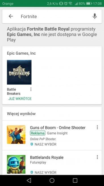 Google Play zadba o to, żeby miłośnicy Fortnite nie padli ofiarą oszustów 15