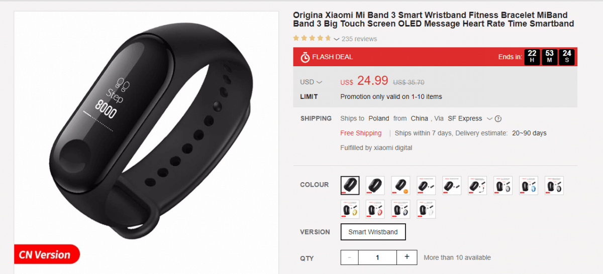Tabletowo.pl Promotion: Xiaomi Mi Band 3 will be available for about 85 zlotys, but only tomorrow! Promotions Wearable Xiaomi