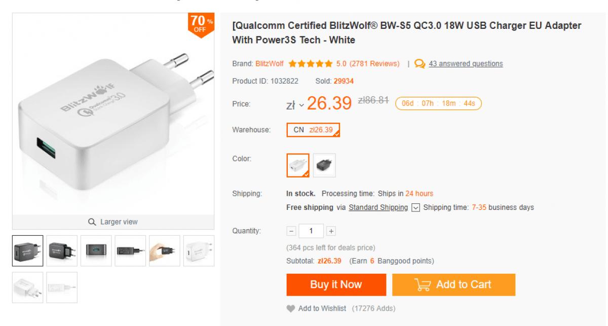 Tabletowo.pl Były kable, więc czas na tanią ładowarkę, i to taką z Quick Charge 3.0 Akcesoria Promocje