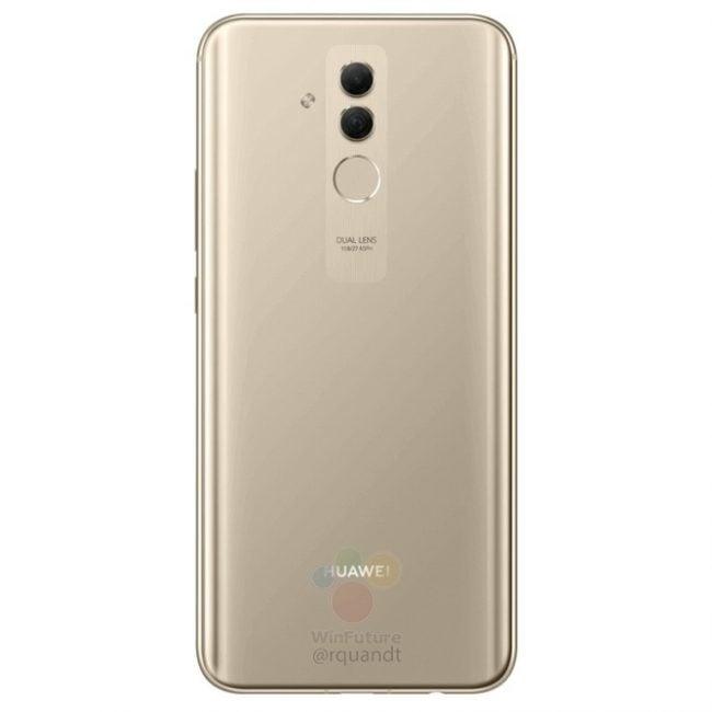 Huawei Mate 20 lite na kolejnych grafikach. Smartfon pojawi się w czarnej i złotej wersji kolorystycznej 23