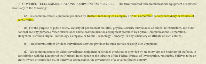 Chcąc zostać kongresmenem w USA, nie będziesz mógł używać smartfonów Huawei lub ZTE 21