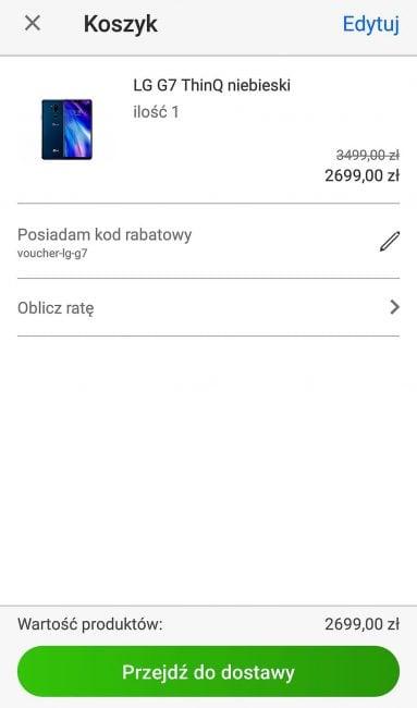 Tabletowo.pl To nie żart: LG G7 ThinQ trzyma cenę, jak jego poprzednicy. Można go wyrwać 800 złotych taniej Android LG Promocje Smartfony
