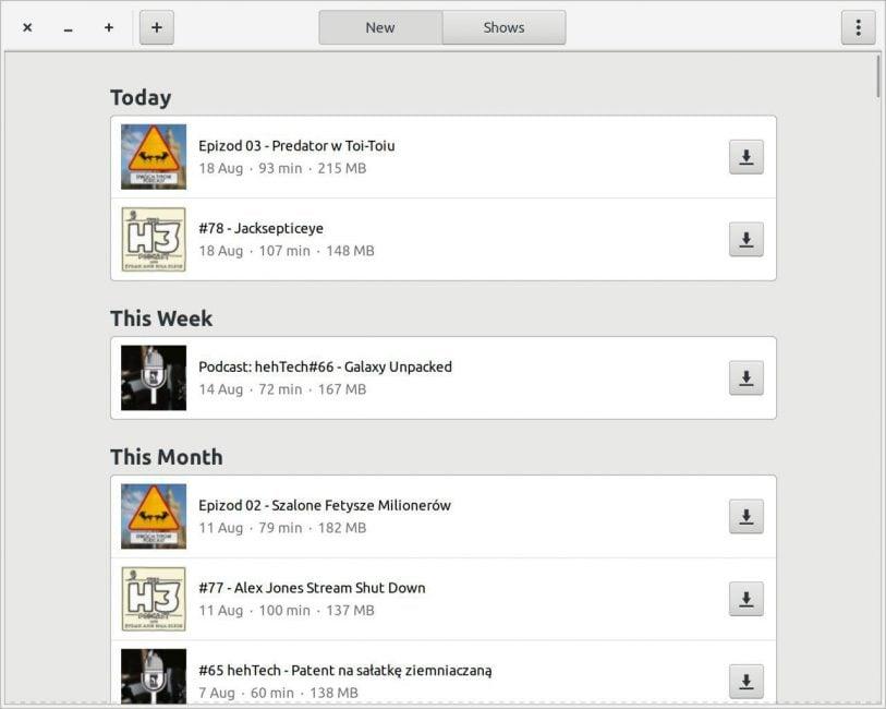 Tabletowo.pl Jak wygodnie słuchać podcastów na Linuksie? Na przykład przez aplikację Podcasts Aplikacje Linux Recenzje Aplikacji/Gier Ubuntu