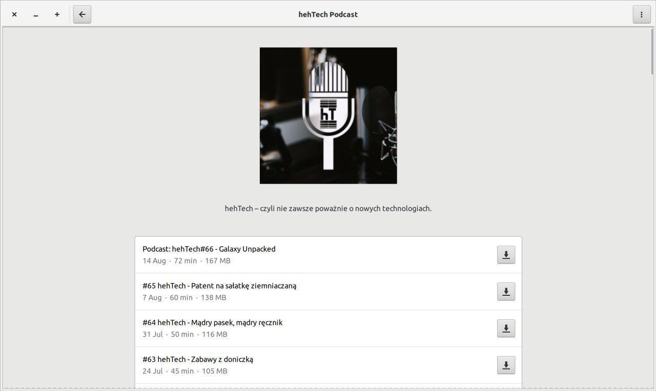 Jak wygodnie słuchać podcastów na Linuksie? Na przykład przez aplikację Podcasts 28