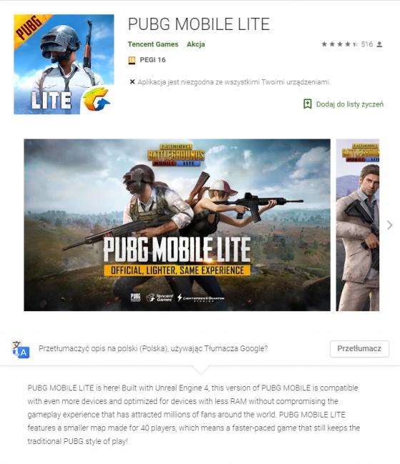 Tabletowo.pl Tego jeszcze nie grali - zadebiutował PUBG Mobile Lite Android Ciekawostki Gry