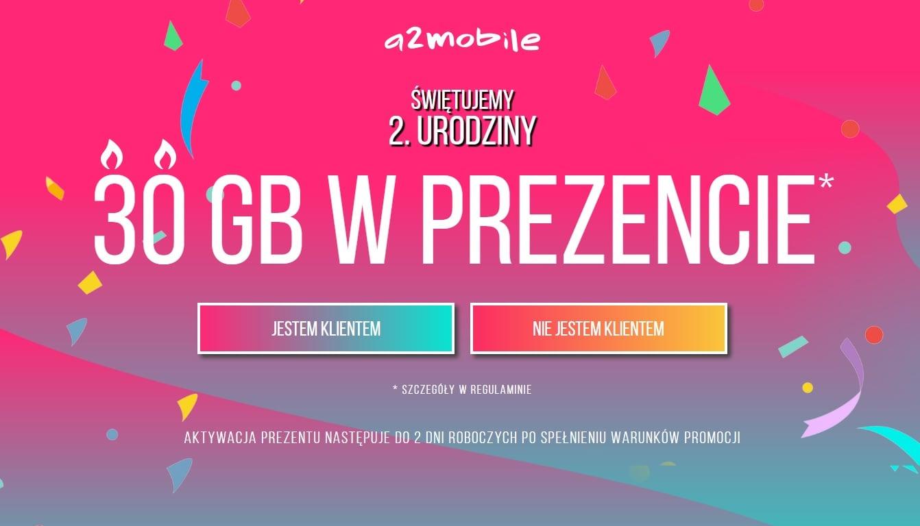 a2mobile świętuje 2. urodziny i rozdaje z tej okazji pakiet 30 GB internetu, ale pod pewnym warunkiem 21