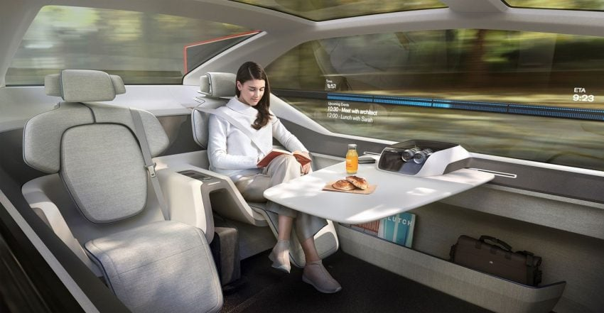Tabletowo.pl Volvo 360c - autonomiczny samochód, który ma zastąpić... krótkodystansowe loty samolotem Moto Nowości