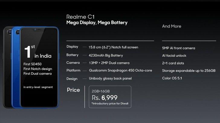 Marka-córka Oppo się rozkręca - zaprezentowała kolejny smartfon, Realme C1 16
