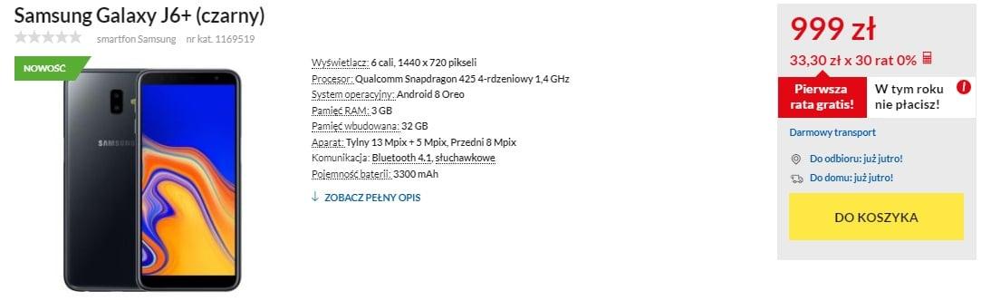 Stoicie? Lepiej usiądźcie, ponieważ polskie ceny Galaxy J6+ i Galaxy J4+ Was powalą 21
