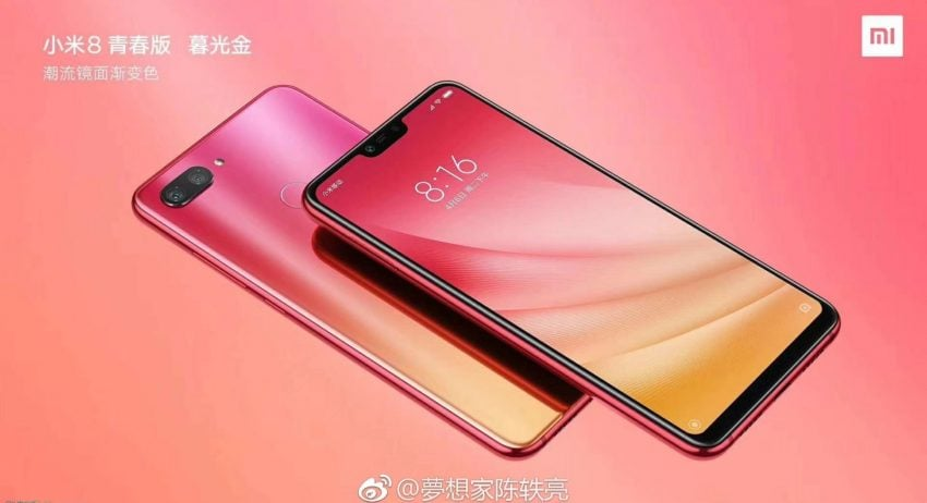 Tabletowo.pl Xiaomi Mi 8 Youth Edition w różowej obudowie. Widocznie kolorowe smartfony są teraz w modzie Plotki / Przecieki Smartfony Xiaomi