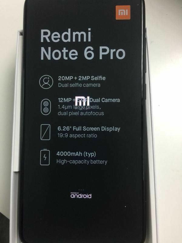 Tabletowo.pl Xiaomi Redmi Note 6 Pro na zdjęciu. Jest też częściowa specyfikacja, są m.in. cztery aparaty na pokładzie Android Plotki / Przecieki Smartfony Xiaomi