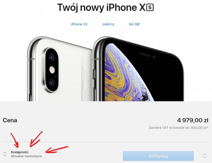 Tabletowo.pl iPhone XS i XS Max już w przedsprzedaży w sklepach i u operatorów. Wszędzie, tylko nie na stronie Apple Apple GSM Smartfony