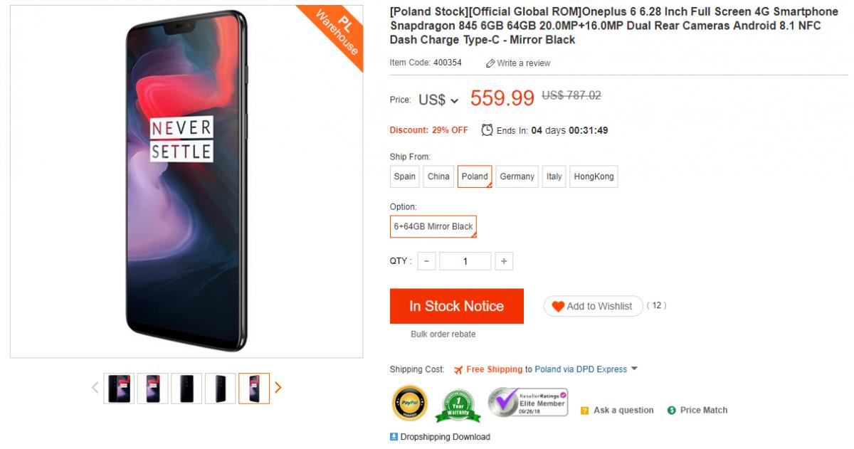 Tabletowo.pl Promocja: Marzy Ci się OnePlus 6? To dobra okazja, żeby go kupić Android OnePlus Promocje Smartfony