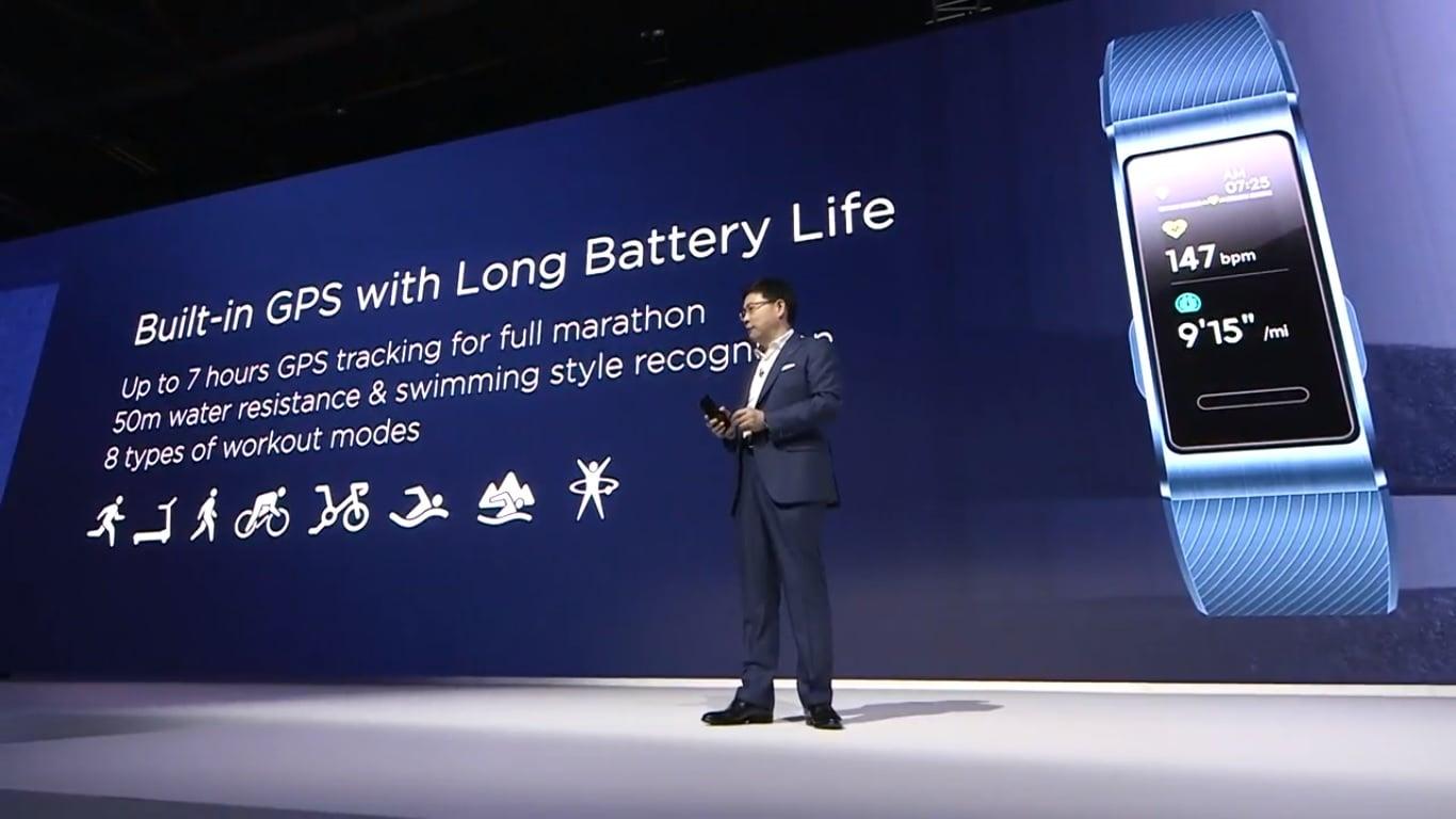 Tabletowo.pl Jeszcze jedna nowość od Huawei: opaska fitness Huawei Band 3 Pro Huawei Nowości Wearable