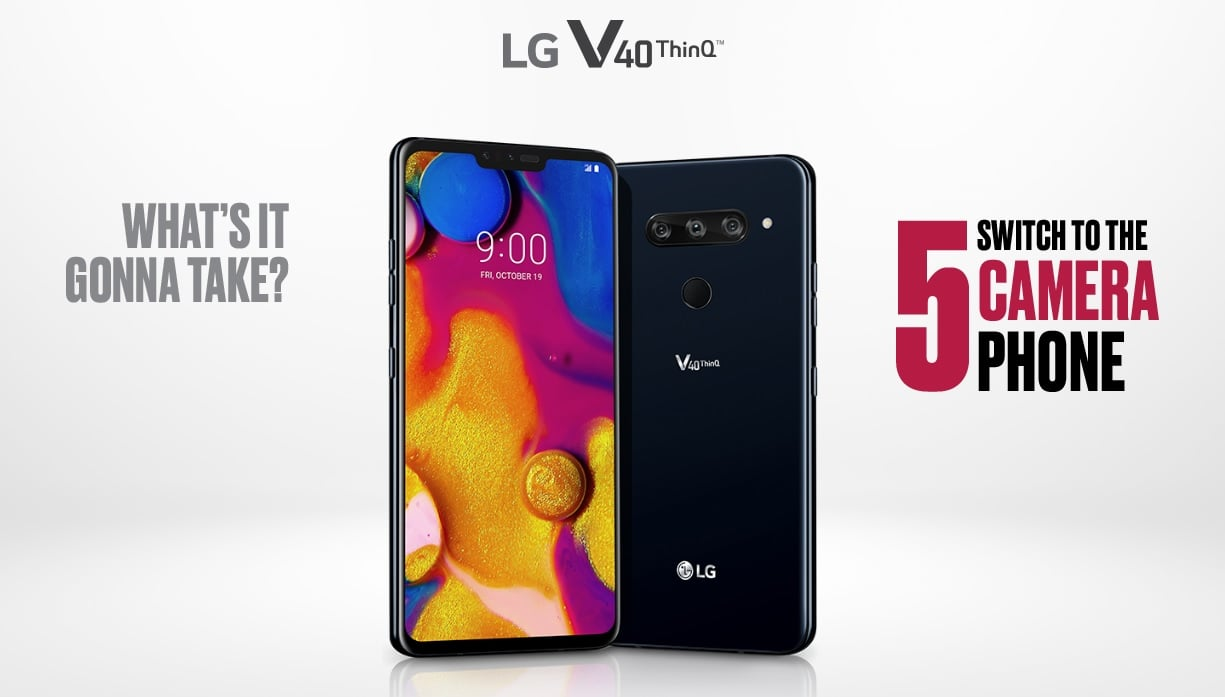 Tabletowo.pl LG V40 ThinQ z pięcioma aparatami oficjalnie. Jedyną wadą może być mała bateria. I notch Android LG Nowości Smartfony