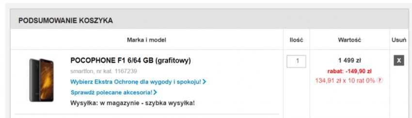 Tabletowo.pl Pocophone F1 najtaniej w polskiej dystrybucji - oto promocja, w której kupicie go za niecałe 1350 zł Promocje Smartfony Xiaomi