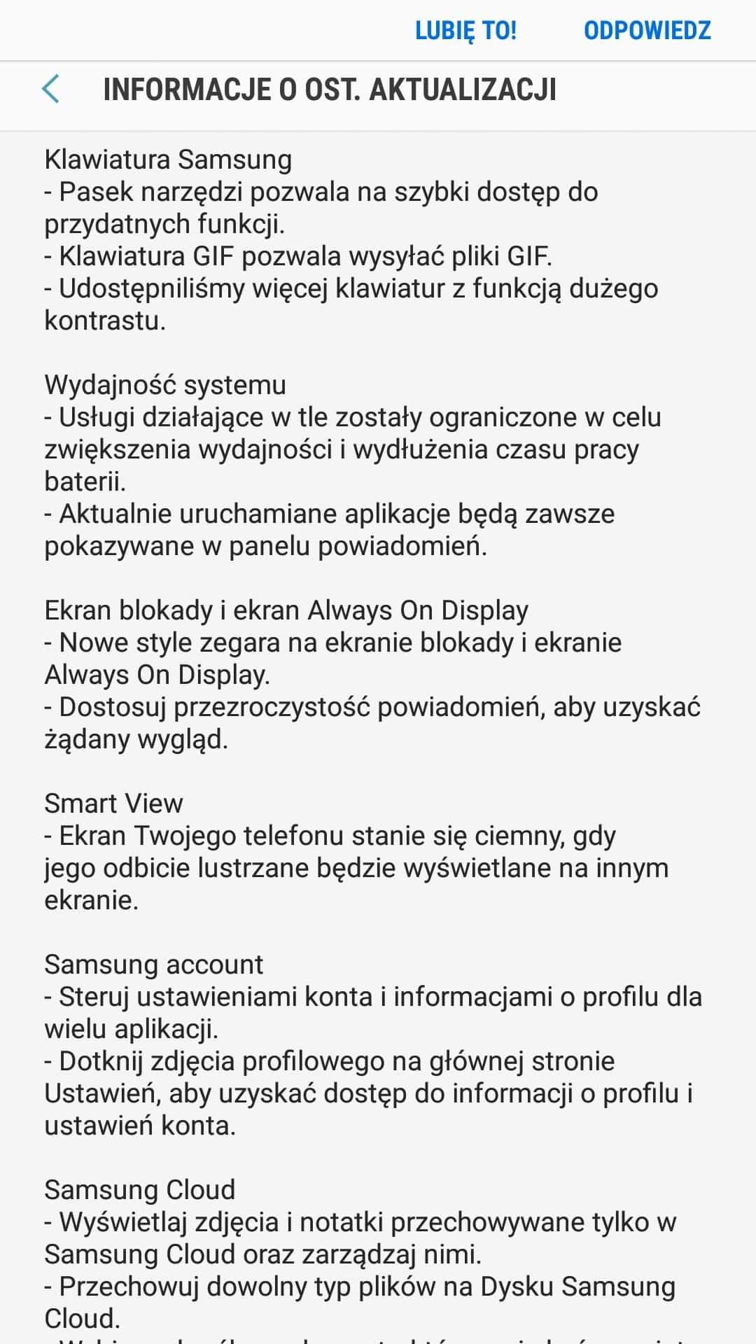Tabletowo.pl Samsung Galaxy J7 2017 otrzymuje aktualizację do Androida 8.1 Oreo i Samsung Experience 9.5 Aktualizacje Android Samsung Smartfony