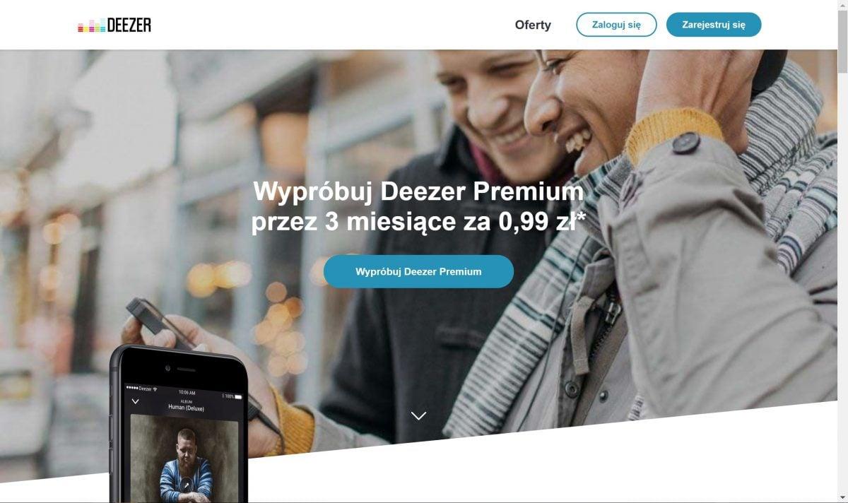 Tabletowo.pl Promocja: Deezer Premium na 3 miesiące do kupienia za jedyne 99 groszy Kultura Promocje