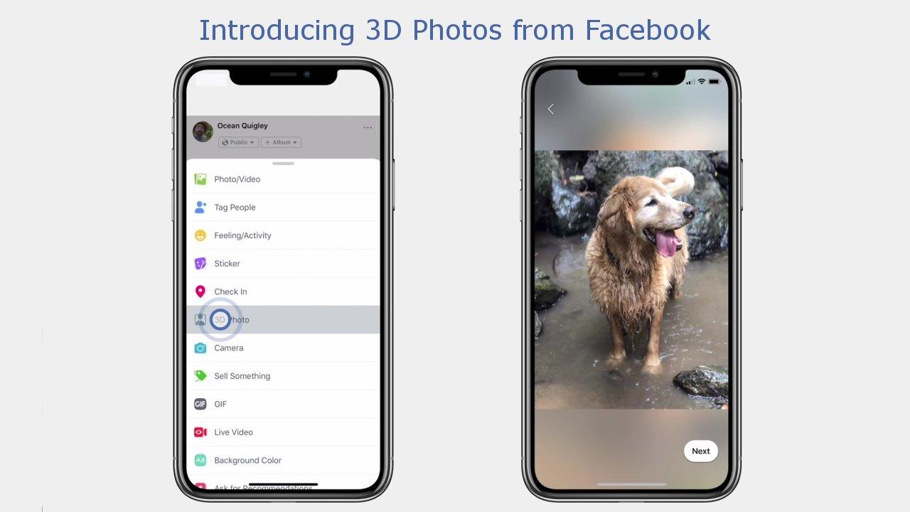 Facebook będzie przekształcał zwykłe zdjęcia w zdjęcia 3D. Aktualizacja rusza już dziś 19
