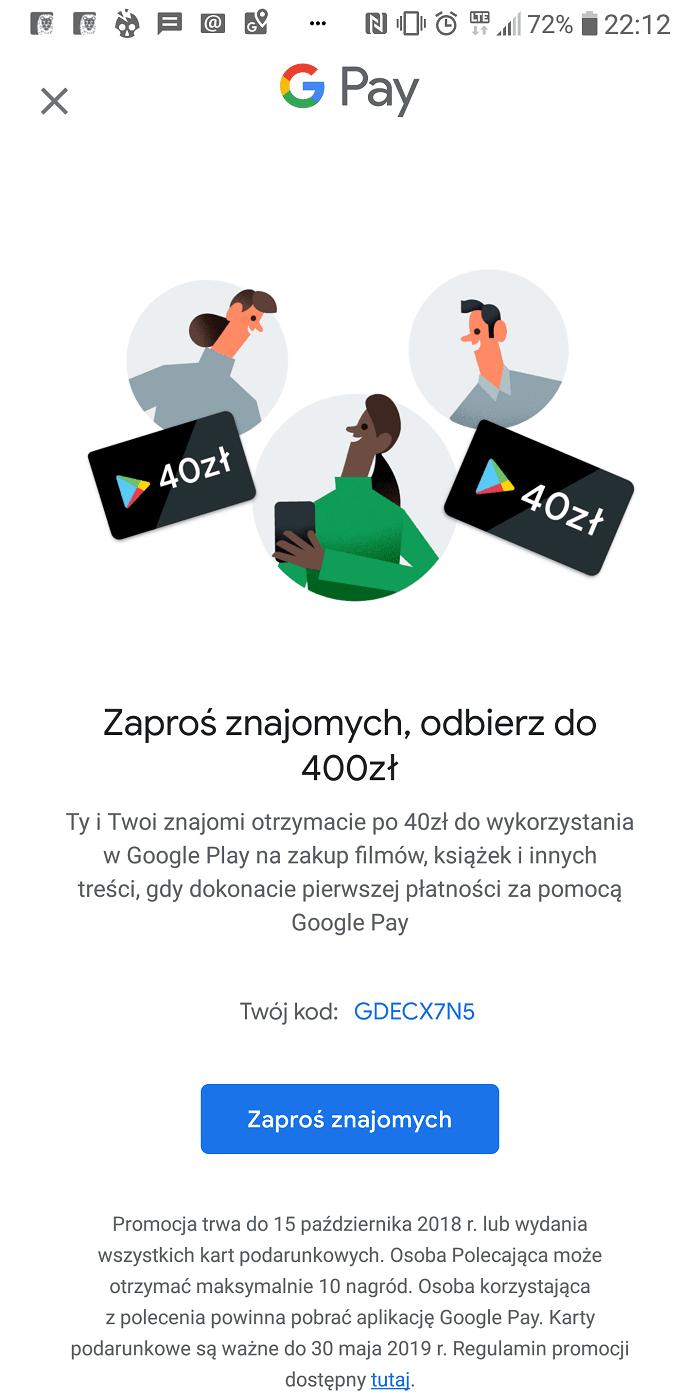Tabletowo.pl Rynek płatności zbliżeniowych stale rośnie. Odpowiedzią Google jest wznowienie promocji dla nowych klientów Google Pay Nowości