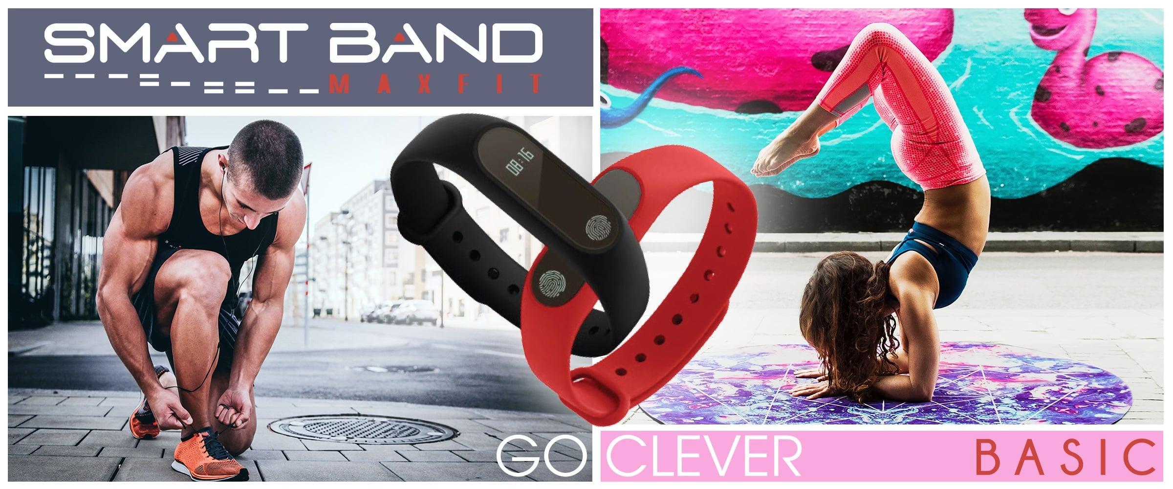 Tabletowo.pl GOCLEVER zaprezentował dwie nowe opaski fitness. Jedna jest zaskakująco podobna do Xiaomi Mi Band 2 GOCLEVER Nowości Wearable