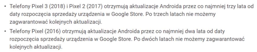 Tabletowo.pl Trzy lata aktualizacji Androida dla Pixeli od Google. Oczywiście nie wszystkich Aktualizacje Android Google Oprogramowanie