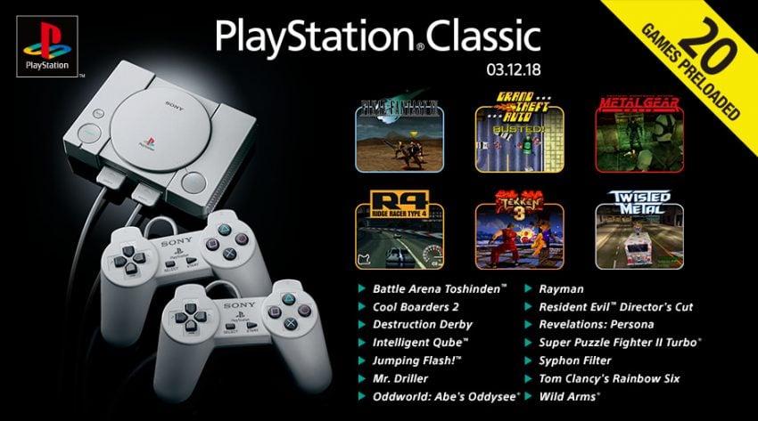 Tabletowo.pl Znamy listę 20 kultowych gier, które trafią na PlayStation Classic. Zgadnijcie, jakiej produkcji zabraknie Gry Nowości Sony
