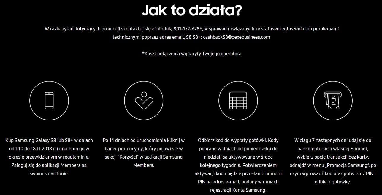 Tabletowo.pl Promocja: kup Samsunga Galaxy S8 lub Galaxy S8+ i odbierz 500 złotych zwrotu w gotówce Android Promocje Samsung Smartfony
