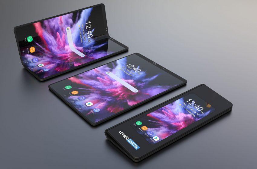 """Tabletowo.pl Składany Samsung na ciekawym renderze. Ta """"cegiełka"""" może wyglądac naprawdę elegancko Koncepcje Samsung Smartfony Tablety"""